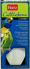 Cuttlebone with Holder <p><strong>From the Manufacturer:</strong></p><p><strong></strong>Hartz Cuttlebone has a grainy texture, reminiscent of pumice that supples a natural source of calcium while keeping beaks trimmed and sharpened.</p> 1 Each  $2.99