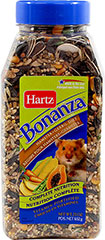 Bonanza Hamster & Gerbil Diet <p><strong>From the Manufacturer: </strong></p><p>Hartz Bonanza Hamster and Gerbil is scientifically-formulated to meet the nutritional needs delivering the right blend of delicious ingredients, it ensures optimal consumption which aids in providing complete nutrition.</p> 23 oz Container  $2.99