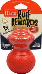 Ruff Rewards Bacon Flavor Chew Toy <p><strong>From the Manufacturer:</strong></p><p><strong></strong>Hartz Ruff Rewards Dog Toy is ideal for dispensing treats or food portions. For strong chewers with bacon flavor as an added attraction.</p> 1 Each  $14.99