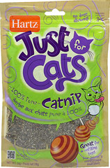 Just for Cats Catnip <p><strong>From the Manufacturer:</strong></p><p>Hartz Just for Cats Catnip will help stimulate cats, increasing play and exercise. You will see them sniffing, licking, and chewing the catnip. The effect will last around 10 to 20 minutes. It will take approximately 1 to 2 hours before the cat will respond again to the catnip. </p><p>Comes in a sleek resealable pouch and contains no dust.</p><p><strong></strong&gt
