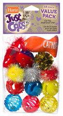 Just for Cats Value Pack Cat Toys <p><strong>From the Manufacturer:</strong></p><p><strong></strong>Hartz Just for Cats Value Pack Cat Toys offer hours of enjoyment for your cats or kittens.</p> 13 Pack  $3.99