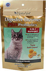 Digestive Enzymes Plus Probiotics Soft Chews <p><strong>From the Manufacturer:</strong></p><p><strong></strong>NaturVet's Digestive Enzymes Plus Probiotics help to unlock vitamins, minerals, and other important nutrients from food for optimal absorption. Great for food transitioning.</p><ul><li>Made in the USA</li></ul> 50 Chews  $11.99