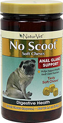 "No Scoot Soft Chews <p><strong>From the Manufacturer:</strong></p><p>NaturVet's No Scoot Supplement Soft Chews helps support healthy anal gland function by increasing your dog's daily fiber intake. The fiber is No Scoot gently supports normal bowel function.<strong><br /></strong></p><p><span class=""t-marker""></span><strong></strong></p><p><strong></strong></p> 65 C"