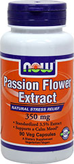 Passion Flower Extract 350 mg <strong>From the Manufacturer's Label:</strong><br /><br />• Standardized 3.5% Extract<br />• Supports a Calm Mood**<br /><br />Passion Flower (Passiflora incarnata) has been used for centuries by Native North and South Americans as a traditional herbal calming agent. More recent scientific studies have verified that certain constituents of Passion Flower are effective for the temporary relief of nervousness and minor st