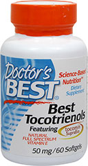 Best Tocotrienols featuring Tocomin SupraBio®  60 Softgels 50 mg