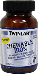 Chewable Iron  100 Wafers  $10.99