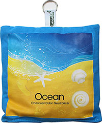 Ocean Charcoal Odor Neutralizer <p><strong>From the Manufacturer:</strong></p><p>Help eliminate odors from around the home with this activated charcoal neutralizer. Simply place on any surface - kitchen, pet area, smoking room, bathroom, and more. Hang a bag in the laundry room, toss in the trunk of your car or the back seat of <strong></strong>your car. Improve your environment, home decor, and the air you breathe by getting rid of those odors we don&#3