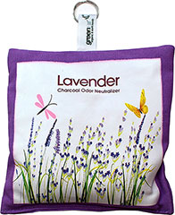 Lavender Charcoal Odor Neutralizer <p><strong>From the Manufacturer:</strong></p><p>Help eliminate odors from around the home with this activated charcoal neutralizer. Simply place on any surface - kitchen, pet area, smoking room, bathroom, and more. Hang a bag in the laundry room, toss in the trunk of your car or the back seat of your car. Improve your environment, home decor, and the air you breathe by getting rid of those odors we don't ever want in our home.
