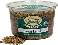 Organic Green Lentils <p><strong>From the Manufacturer:</strong></p><p><strong></strong>Lentils are a small round legume that are a staple food around the world. Common in Middle Eastern and Indians dishes as Dal. Ideal for soups, stew, pate, curry, salad, with any whole grain, or by themselves. Versatile, quick cooking, delicious, and very nourishing. Makes for an extremely healthy side dish.<br /></p><ul><li>Excellent source of