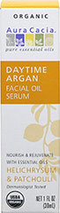 Daytime Argan Facial Oil Serum <p><strong>From the Manufacturer: </strong>Your regular morning facial wash removes oil, dirt, and dead skin, but it also destroys the healthful glow provided by your skin's protective layer. Argan's ratio of 20% saturated and 80% unsaturated fatty acids promotes a bright, light-reflecting sheen that lets your skin's natural color tones shine through. Smooth over skin after cleansing and face the day brilliantly.</p><p>Manu