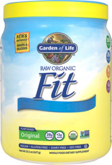 Organic Raw Fit Protein <p>From the Manufacturer's Label:</p><p>Raw Fit is a Certified Raw, Plant-Based Vegan high-protein powder that is an easy way to increase your protein intake.  It has a mild, slightly sweet flavor that mixes great with your favorite food or beverage and contains Raw, Organic ingredients.</p><p>Manufactured by Garden of Life</p><p></p> 16 oz Powder  $33.09
