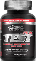 Test Peak <strong>From Manufacturer's Label:</strong><br /><br />Test Peak - Natural Testosterone Amplifier. New Testosterone Technology.<br /><br />• Ultimate Peak Nutrient Delivery System**<br />• Advanced Rapid Releasing Testosterone Breakthrough**<br />• 90 hydrocaps™<br /><br />Manufactured by Inner Armour®. 90 Capsules  $39.99