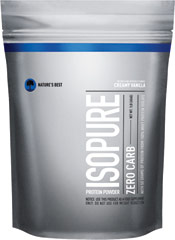 Isopure Zero Carb Whey Protein Isolate Creamy Vanilla <p><strong>From the Manufacturer's Label:</strong></p><p>50 grams of 100% pure whey protein isolate and not a carb in sight.  And it still comes with glutamine and nutrients, but no lactose or impurities, so it's easy to drink.<br /><br />Manufactured by Nature's Best.</p> 1 lb Powder  $15.99