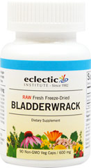 Freeze Dried Bladderwrack 600 mg <p><strong>From the Manufacturer's Label:</strong></p><p>Fucus Vesiculosus Whole Plant</p><p><strong></strong></p><p>Fresh freeze-drying maintains the biologically active constituents for highest potency and action.</p><p>Manufactured by Eclectic Institute.</p><p><br /></p> 90 Vegi Caps 600 mg $14.99