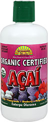 Organic Acai Blend <p><strong></strong></p><p>From the Manufacturer's Label<br /><br />   • Organic Certified Açai Juice Blend<br />   • Fortified with Goji & Pomegranate & Blueberry & Mangosteen<br /><br />The Acai Palm Trees flourish in the lush rainforests that are fed by the mighty Amazon River. The synergy of the nutrient rich soil and tropical climate guarantee n