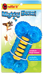 Mighty Bone Dental Toy <p><strong>From the Manufacturer:</strong></p><p>Durable chew toy with rope lacing.  Great for healthy teeth & gums.  Comes in a variety of colors, please note color can not be specified.</p>  1 Each  $5.19
