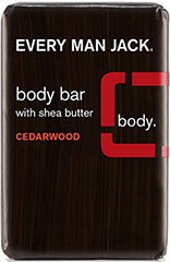 Cedarwood Body Bar with Glycerin <p><strong>From the Manufacturer's Label:</strong></p><p>Cleanse, soothe, and condition your skin with this vegetable-based body bar that protects against dryness.  Shea butter  and organic aloe hydrate, vegetable base and cedarwood oil clean, while glycerin helps retain skin's moisture.  Essential oils of rosemary and sage refresh. </p><p>Manufactured by Every Man Jack.<br /