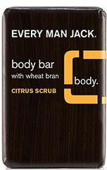 Citrus Scrub Body Bar with Wheat Bran <p><strong>From the Manufacturer's Label:</strong></p><p><strong></strong>WILL THIS GIVE ME A CHISELED PHYSIQUE? Chiseled? Maybe if you work out. But smooth? Definitely.  The fresh, clean, citrus scent invigorates while wheat bran goes to work scrubbing away dead skin. Veggie base cleans, shea butter and Organic aloe hydrate while glycerin holds moisture on the skin.<br /><br />Manufactured b