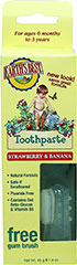 Strawberry & Banana Toothpaste <p><strong>From the Manufacturer's Label:</strong></p><p>Earth's Best Strawberry and Banana Toothpaste uses all-natural ingredients like calcium lactate to safely and gently cleanse delicate gums and promote strong teeth. Deliciously all-natural strawberry and banana flavors encourage brushing and the fluoride-free formula is completely safe if swallowed. Start your child on the path to a lifetime of good oral hygiene with