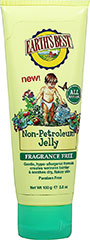 Non-Petroleum Jelly <p><strong>From the Manufacturer's Label:</strong></p><p>Earth's Best Non-Petroleum Jelly creates a moisture barrier that helps soothe your baby's sensitive skin. Great for drooling babies or between diaper changes. This all-natural, hypo-allergenic, fragrance-free and petroleum-free formula is so gentle, it will leave your baby's skin soft and smooth.<br /><br />Natural formula contains no artificial colors or fragran