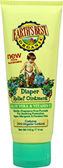 Diaper Relief Ointment <p><strong>From the Manufacturer's Label:</strong></p><p>Earth's Best Organic Diaper Relief Ointment is a gentle, fragrance-free formula made with Aloe Vera for soothing protection on your baby's skin. This ointment helps prevent diaper rash, protects against wetness, and protects chafed skin associated with diaper rash. </p><ul><li>Contains 70% Organic Content</li><li>Hypo-allergenic</li><li&