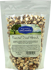 "Roasted Diced Almonds <p><strong>From the Manufacturer:</strong></p><p>These almonds are dry roasted and unsalted and then diced into small pieces. These are great as toppings and mix-ins for ice cream, cakes, cookies, and many other recipes.<br type=""_moz"" /><strong></strong></p> 8 oz Bag  $8.99"
