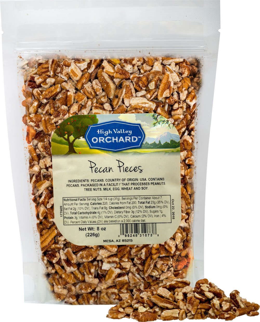 Pecan Pieces <p><strong>From the Manufacturer:</strong></p><p><strong></strong>These raw Pecan Pieces have all the flavor of the Halves, in miniature. Add them to any dessert for just the right touch of nut and crunch! These are great as toppings and mix-ins for ice cream, cakes, cookies, and many other recipes.</p> 8 oz Bag  $10.99