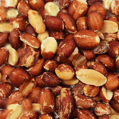 Roasted & Salted Redskin Peanuts <p><strong>From the Manufacturer:</strong></p><p>Delicious, flavorful, crunchy, freshly roasted without oil peanuts in their red skin.<strong></strong></p> 8 oz Bag