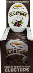 Chocolate Toasted Coconut Clusters <div><p><strong>From the Manufacturer: </strong></p><p>New England Natural Bakers Granola Clusters are bite sized whole grain nuggets which are a good source of fiber, made with Non-GMO ingredients. Trans Fat Free, Cholesterol Free and Low in Saturated Fats. </p><p>Chocolate Toasted Coconut is made from whole rolled oats, naturally milled sugar, crisp rice, barley malt, coconut, organic corn and wheat flower, coco