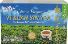 Ti Kuan Yin Tea <p>Ti Kuan Yin Tea is one of China's most beloved Oolong teas. This tea is typically close to a green tea, with only a little fermentation that combines the qualities of black and green tea. Completely hand picked, Ti Kuan Yin tea has a delicate yet complex flavor, a unique aftertaste, and brews to a beautifully golden color.</p> 7.4 oz Box  $5.99