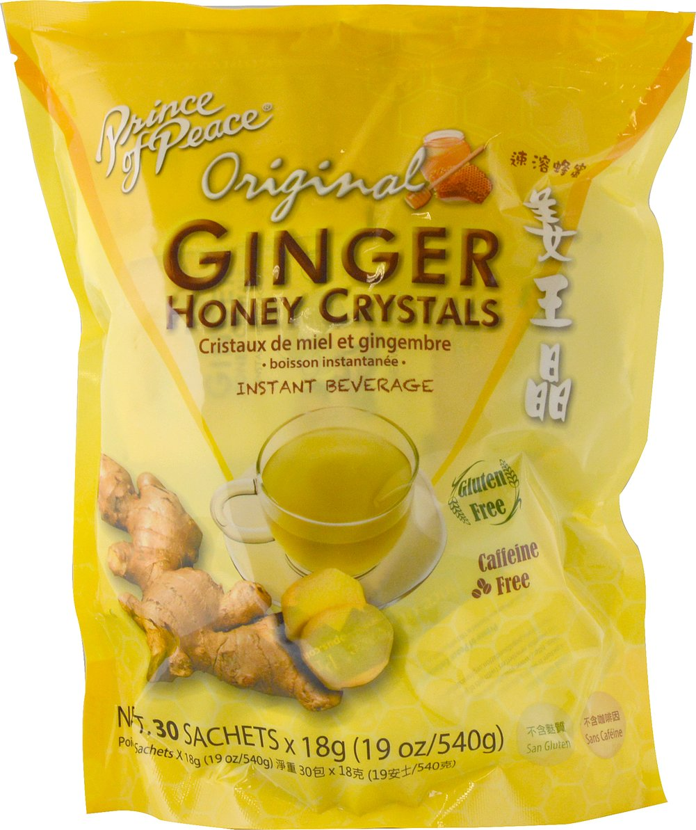 Ginger Honey Crystals <p><strong>From the Manufacturer's Label:</strong></p><p>Prince of Peace brings you all the benefits of Ginger and Honey in their special blend of instant Ginger Honey Crystals. Instant soluble, convenient, and has no artificial additives.</p> 18 oz Bag  $19.99