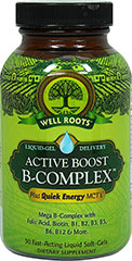 Active Boost Vitamin B-Complex™ <p><strong>From the Manufacturer's Label:</strong></p><p>Active Boost Vitamin B-Complex is manufactured by Well Roots™.</p> 50 Softgels  $11.99
