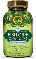 Fish Oil + CoQ10 & D3  50 Softgels  $12.99