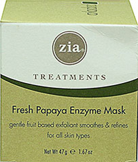 Fresh Papaya Enzyme Mask <p><strong>From the Manufacturer:</strong></p><p>Zia Treatments Fresh Papaya Enzyme Mask is a gentle fruit based exfoliant smooths and refines for all skin types.</p><ul><li>Papaya gently dissolves dead surface skin</li><li>Antioxidants Vitamins C & E aid skin repair and minimizes damage</li><li>Honey soothes and hydrates to soften skin</li><li>Carrot juice helps even skin tone&lt