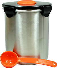 Beansafe Fresh Coffee Storage Solution <p><strong>From the Manufacturer:</strong></p><p>Best-tasting coffee comes from freshly roasted beans! BeanSafe coffee containers are designed to protect coffee beans from air, moisture, heat, light, and carbon dioxide exposure. <br /><br />Features four locking clasps, a silicone gasket, and a unique aeration system that employs a patent pending one-way pressure release valve that keeps air and moisture from enteri