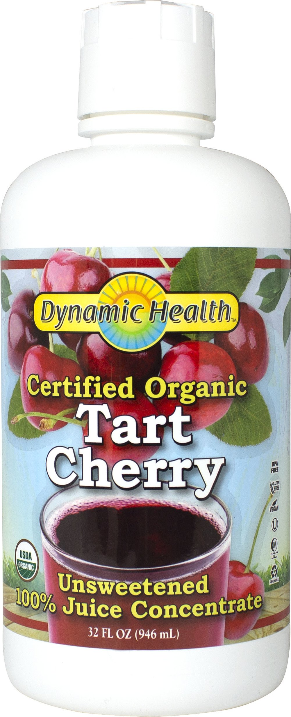 Organic Tart Cherry Juice Concentrate <p>From the Manufacturer's Label:<br /></p><ul><li>Organic</li><li>Fat Free</li><li>No Sugar Added</li><li>Gluten Free</li><li>Vegetarian</li></ul><p>Tart cherries contain a nutritional goldmine of phenolics, which are naturally occurring plant compounds that have anti-inflammatory and antioxidative properties. The main type of phenolic in cherries are anthocy