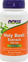 Holy Basil Extract 500 mg <p>From the Manufacturer's Label:  <br /><br />• Helps Body Adapt to Stress<br />• Supports Healthy Blood Glucose Levels<br /><br />Holy Basil [Ocimum tenuiflorum (also known as Ocimum sanctum)] has been shown to possess powerful adaptogenic properties and has been used to enhance the body's ability to respond to stress and minimize the negative effects of stress on the body.** In addition, animal studies have demonstrate
