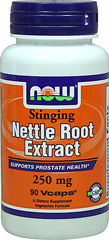 Stinging Nettle Root Extract 250 mg <p>From the Manufacturer's Label:</p><p>Supports Prostate Health**</p><p>Stinging Nettle has been used according to tradition, since the days of Caesar 2,000 years ago. NOW® Stinging Nettle Root is concentrated and standardized to the highest European standards, where it has been researched and widely used.</p><p>Manufactured by NOW® Foods.</p> 90 Vegi Caps 250 mg