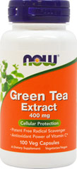 Green Tea Extract 400 mg <p></p><p><strong>From the Manufacturer's Label:</strong><br /><br />Powerful Free Radical Scavenger**<br /><br />NOW® Green Tea Extract offers a convenient way to obtain the active constituents of Green Tea in a concentrated form. Green Tea Extract (GTE) supplies numerous bioactive compounds, including Polyphenols and Catechins, that are known for their many health-supporting properties. These compounds have bee