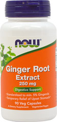 Ginger Root Extract 250 mg <p><strong>From the Manufacturer's Label:</strong><br /><br />• Digestive Support**<br />• Standardized to min. 5% Gingerols<br />• Powerful Antioxidant**<br /><br />Ginger (Zingiber officinale) is a plant native to Southeast Asia that has a long history of use as an herbal remedy and as a culinary spice. Ginger has more recently been shown to support digestive health and may be effective in the prevention or relief