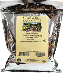 Organic Spirulina Powder <p>From the Manufacturer's Label:  <br /></p><p>Organic Spirulina Powder is manufactured by Starwest Botanicals.</p> 1 lb Powder