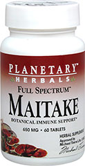 "Maitake 650 mg Full Spectrum™ From the Manufacturer's Label:<br /><br />Botanical Immune Support<br /><br />Maitake – ""The Dancing Mushroom""<br />Maitake (Grifola frondosa) is the legendary Asian mushroom revered for both its delicious taste and health-promoting benefits. Maitake is a source of beta-glucan, known for its ability to support immune defenses. Full Spectrum™ Maitake includes both the fruiting body and the mycelium to provide a broad range of maitake"