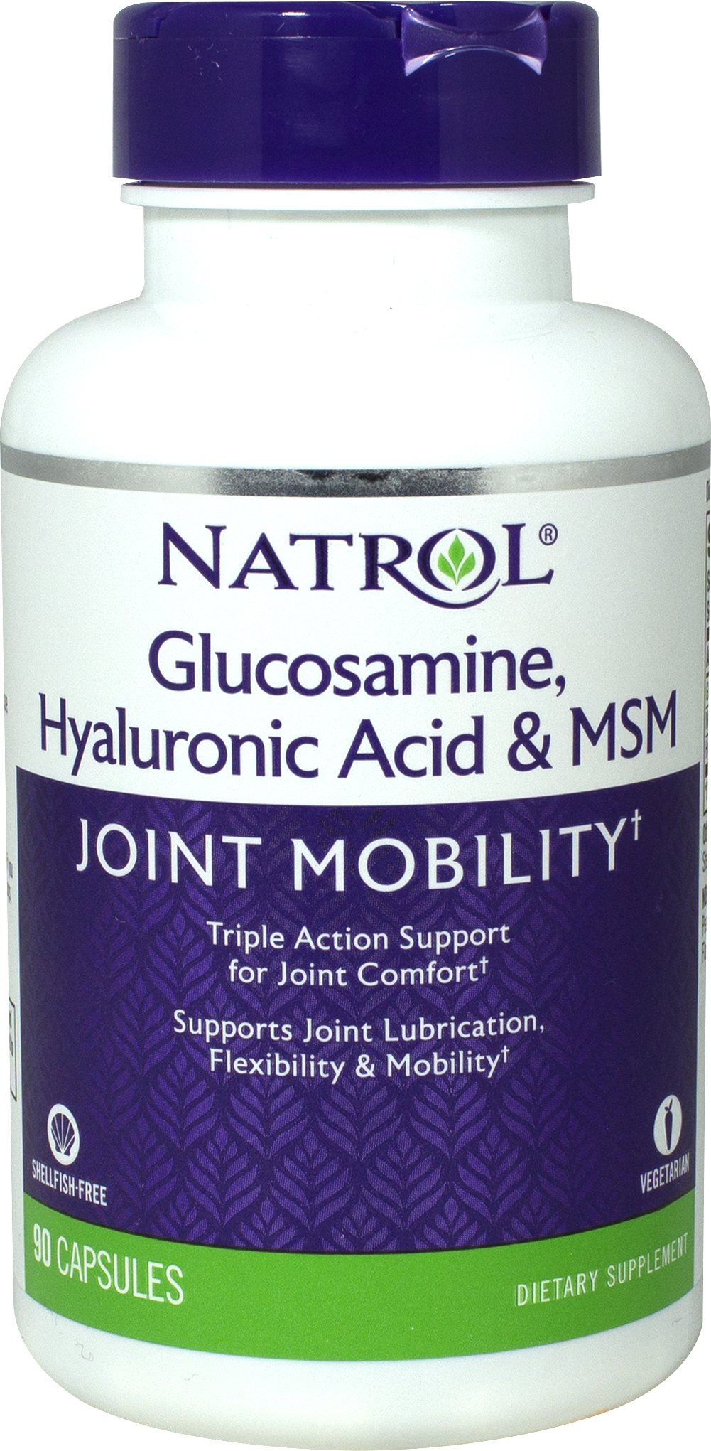 Hyaluronic Acid, MSM & Glucosamine Shellfish Free <strong>From the Manufacturer's Label:</strong><br /><br />• Potent Combination to Support Joint Lubrication**<br />• Helps Maintain Joint Flexibility and Comfort**<br />• Promotes Healthy Connective Tissue**<br /><br /><br />Hyaluronic Acid, MSM & Glucosamine supports joint health with three compounds known for their joint-tissue benefits.<br /><br />This powerful vege