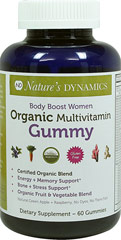 Body Boost Women's Organic Multivitamin  60 Gummies  $16.99