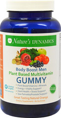 Body Boost Men's Organic Multivitamin  60 Gummies  $16.99