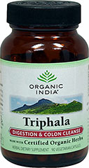 Triphala 480 mg <p><strong>From the Manufacturer's Label:</strong></p><p>Digestion & Colon Cleanse**<br /><br />Triphala is rich in natural Vitamin C and abundant in antioxidants.<br /><br />Manufactured by Organic India</p><p></p> 90 Capsules 480 mg $13.99