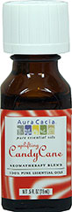 100% Pure Candy Cane Essential Oil Blend <p><strong>From the Manufacturer's Label:</strong></p><p>Aura Cacia's Uplifting Candy Cane creates a minty-sweet holiday air with its delightful blend of natural essential oils of peppermint, spearmint and wintergreen. Pure, authentic vanilla bean extract adds a smooth, candy-like nuance.<br /></p> 0.5 oz Liquid  $14.99