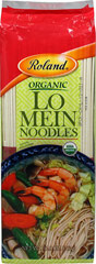 Organic Lo Mein Noodles <p><strong>From the Manufacturer's Label:</strong></p><p>Roland Certified Organic Lo Mein Noodles are made in the traditional manner from organic whole wheat flour and sea salt. Enjoy the noodles in broth or stir-fries. With it's mild flavor, be versatile in your culinary creations!<br /></p> 12.8 oz Pack  $4.49