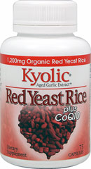 Kyolic Red Yeast Rice plus CoQ10  75 Capsules  $14.99