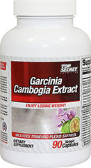Garcinia Cambogia Extract with Mood Support Blend <p><strong>From the Manufacturer's Labe</strong>l:<br /><br />Garcinia Cambogia Extract is derived from plants that grow throughout South east Asia.  Formula includes Trineuro Plex® Saffron 2% Saffranal, Griffonia Simplcifolia Seed Extract 98% 5-HTP, Guarana and L Theanine.<br /><br />Manufactured by Top Secret Nutrition.</p><p></p><p></p> 90 Vegi Caps  $19.